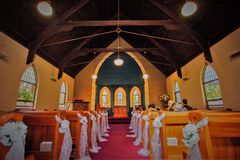 A wedding venue or chapel royalty free stock photography