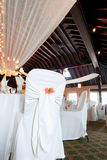 Wedding venue with covered chairs Royalty Free Stock Image