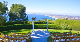 Wedding venue outdoor. Beautiful outdoor wedding venue in Palas Verdes California stock images