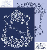 Wedding vintage cards. Wedding invitation cards with vintage floral elements. EPS 10 Royalty Free Illustration
