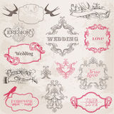 Wedding Vintage Frames and Design Elements Stock Photo
