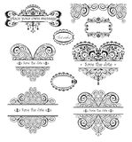 Wedding vintage headers Royalty Free Stock Images
