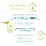 Wedding Vintage Invitation Card Stock Image