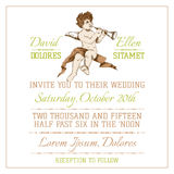 Wedding Vintage Invitation Card Royalty Free Stock Image