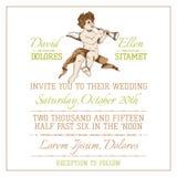Wedding Vintage Invitation Card Royalty Free Stock Image