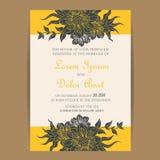 Wedding vintage invitation card Royalty Free Stock Photography