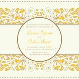 Wedding vintage invitation card Stock Photo