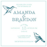 Wedding Vintage Invitation Card Stock Photography