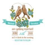 Wedding Vintage Invitation Card Stock Image