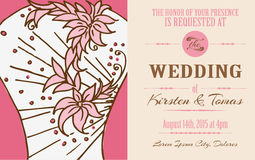 Wedding Vintage Invitation Card Royalty Free Stock Images