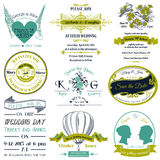 Wedding Vintage Invitation Collection Royalty Free Stock Images