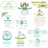 Wedding Vintage Invitation Collection royalty free illustration