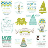 Wedding Vintage Invitation Collection Royalty Free Stock Image