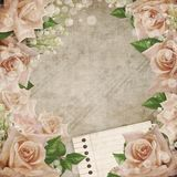 Wedding Vintage Romantic Background Ith Roses Royalty Free Stock Images