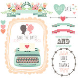 Wedding Vintage Typewriter Royalty Free Stock Photos