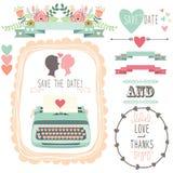 Wedding Vintage Typewriter Royalty Free Stock Photos