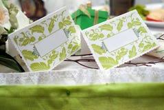 Wedding visit cards Stock Image