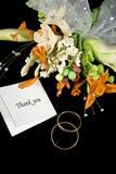 Wedding vous remercient Photographie stock libre de droits