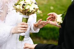 Wedding vows Royalty Free Stock Image
