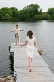 Wedding Walk In The Cool Afternoon Stock Photos