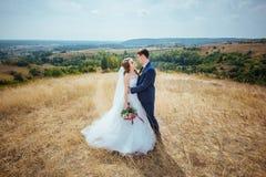 Wedding walk on nature. Beautiful Wedding walk on nature Ukraine Sumy Royalty Free Stock Photography