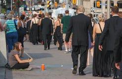 Wedding Walking Past Panhandler Royalty Free Stock Photos