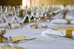Wedding well dressed table Royalty Free Stock Image