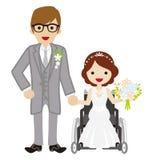 Wedding wheelchair Bride Stock Photos