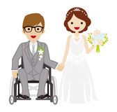 Wedding wheelchair Bridegroom Stock Photography