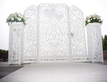 Wedding white altar Royalty Free Stock Images