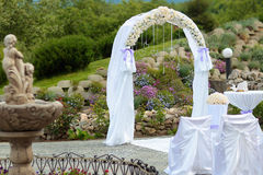 Wedding white archway Stock Photos