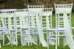 Wedding white chairs Stock Images