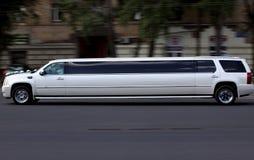 Wedding white luxury long car Stock Image