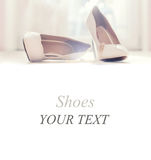 Wedding white shoes Royalty Free Stock Photography