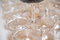 Wedding wine glasses Stock Photo