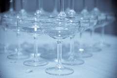 Wedding wine glasses stack with digital work Stock Images