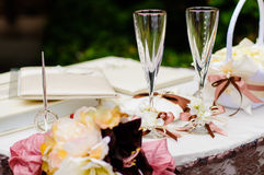 Wedding wineglasses Royalty Free Stock Photo