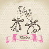 Wedding wineglasses Stock Photo