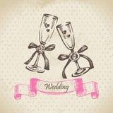 Wedding wineglasses vector illustration