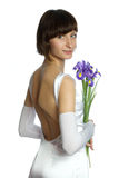 The wedding woman with flowers Stock Image