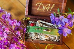 Wedding wood box Stock Photography