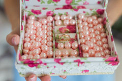 Wedding wood box Royalty Free Stock Images
