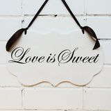 Wedding wood sign Royalty Free Stock Images