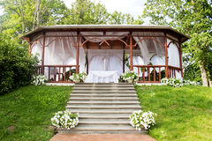Wedding wooden arbour Royalty Free Stock Image