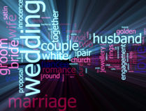 Wedding word cloud glowing Royalty Free Stock Photos