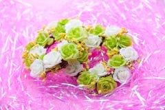 Wedding wreath on pink background Royalty Free Stock Photos