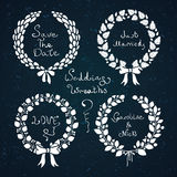 Wedding wreath set Royalty Free Stock Image