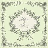 Wedding Wreath Sketch Stock Image
