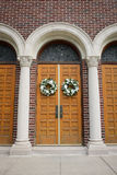 Wedding Wreaths on Doors Royalty Free Stock Photo