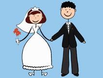 Wedding of the young. Wedding of young, enamoured people Stock Photo